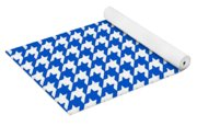 Rounded Houndstooth White Pattern 18-p0123 Yoga Mat