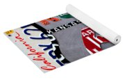 Route 66 Highway Road Sign License Plate Art Yoga Mat