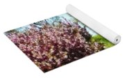 Row Of Flowering Trees Yoga Mat