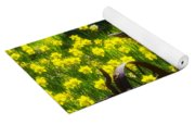 Rusty Plow In Daffodils  Yoga Mat