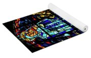 Sainte-mere-eglise Paratrooper Tribute Stained Glass Window Yoga Mat