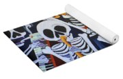 Sax Guitar Music Day Of The Dead  Yoga Mat