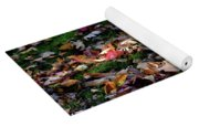 Seagull In The Fallen Leaves Yoga Mat