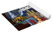 See The Usa Vintage Travel Map Recycled License Plate Art Of American Landmarks Yoga Mat
