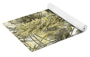 Sepia Toned Pen And Ink Palm Trees Yoga Mat