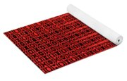 Shadow On The Path Abstract Yoga Mat