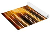 Silver Birches Flaming Abstract  Yoga Mat
