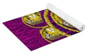 Skull Hands In A Flower Scenery Popart Yoga Mat