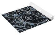 Slate Gray Paisley Design Yoga Mat