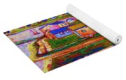 Sleepy Little Village Yoga Mat