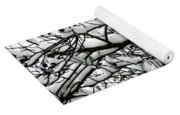 Snowfall On Branches Yoga Mat