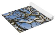 Snowy Branches Yoga Mat