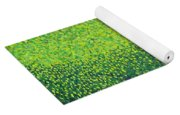 Soft Green Wet Trees Yoga Mat