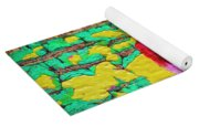 Soutime Rose Against Cracked Wall Yoga Mat