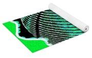 Sphere In Green Yoga Mat