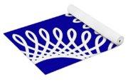 Spirals With Blue Yoga Mat