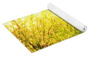 Yellow Splatter Yoga Mat