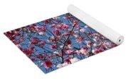 Spring Blossoms Against Blue Sky Yoga Mat