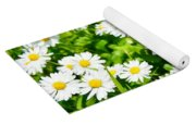 Spring Daisy In The Meadow Yoga Mat