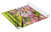 Spring Greeting With Poem Yoga Mat