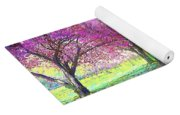 Spring Rhapsody, Happiness And Cherry Blossom Trees Yoga Mat