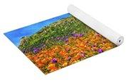 Spring Superbloom In Walker Canyon Yoga Mat