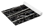 Spring Woods Simulated Woodcut Yoga Mat