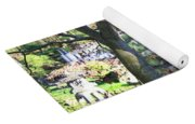 Springtime Bridge Through Japanese Maple Tree Yoga Mat