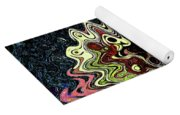 Squash Beans And Peppers Abstract Yoga Mat