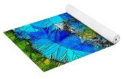 Stained Glass Blue Poppy One Yoga Mat