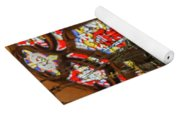 Stained Glass Lantern And Window Yoga Mat