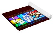 Stained Glass Triptych Yoga Mat
