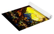Stained Landscape Yoga Mat