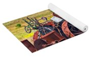 Steam Powered Tractor - Paint Yoga Mat
