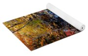 Stepping Stones At Autumn Forest Yoga Mat