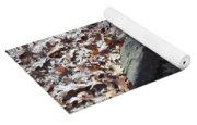 Stone And Leaves Yoga Mat