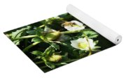 Strawberry Flower And Bee Yoga Mat