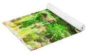 Streams In A Wood Covered With Leaves Yoga Mat