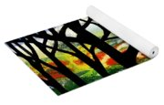 Summer Forest Abstract  Yoga Mat