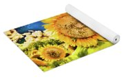 Sunflower Storm Yoga Mat