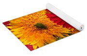 Sunflowers And Red Mums Yoga Mat