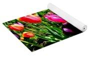 Sunlit Tulips Yoga Mat