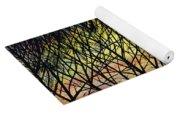 Sunset Tree Silhouette Yoga Mat