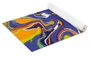 Swirls Drip Art Yoga Mat