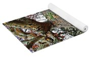 Sycamore Tree And Fall Leaves Yoga Mat