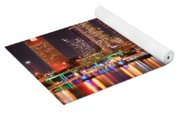 Tampa Skyline At Night Early Evening Yoga Mat