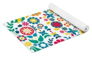Flores Y Aves Yoga Mat