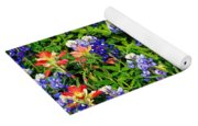 Texas Bluebonnets And Indian Paintbrush Yoga Mat