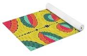 Textured Tropical Mandala Yoga Mat