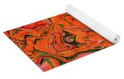The Abstract Days Of Autumn Yoga Mat